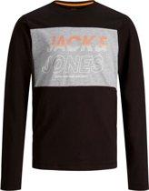 Jack & Jones Shirt - Maat 128  - Jongens - zwart/grijs