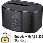 Renkforce USB 3.0 SATA 1 poort Harde schijf-dockingstation Met toegangsbeveiliging