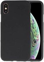 Zwart Color TPU Hoesje voor iPhone XS / X