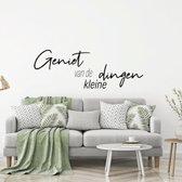 Muursticker Geniet Van De Kleine Dingen -  Groen -  160 x 56 cm  - Muursticker4Sale