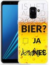 Samsung Galaxy A8 Plus 2018 Hoesje Is het al tijd voor bier?