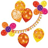 Decoration Kit Happy Birthday Flowers