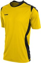 Hummel Paris  Sportshirt performance - Maat XL  - Unisex - geel/zwart