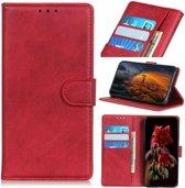 Sony Xperia 5 Portemonnee Hoesje Mat Rood