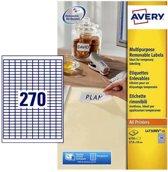 Etiket avery l4730rev-25 17.8 x 10 mm 6750 st