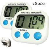 2 Digitale Kookwekkers met Groot Display en Magneet - Kitchen Timer