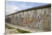 Berlijnse Muur met graffiti erop Aluminium 90x60 cm - Foto print op Aluminium (metaal wanddecoratie)
