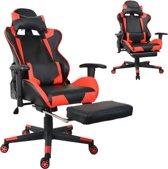 Bureaustoel racing game chair style met voetsteun