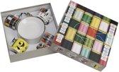 Pantone Eames Office  Espresso Mokje met schotel - 4 stuks - Mix Designs