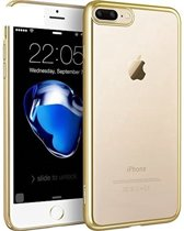 SMH Royal - Geschikt voor Apple iPhone 7 Silicone Transparant Hoesje / Case / Cover Met Gold Bumper, Schokabsorberend, Easy Fit, Protection - Goud
