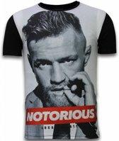 Local Fanatic McGregor Notorious - Digital Rhinestone T-shirt - Zwart - Maten: L