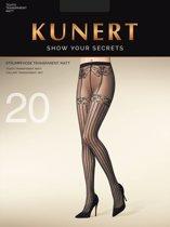 Kunert Imperial Lace panty met jarretel print Maat 40-42 Kleur Zwart