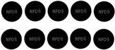 NFC Tags ZWART set 10 stuks