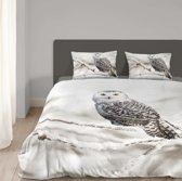ML Flanellen Dekbedovertrek Snowy Owl-240 x 200/220 cm