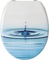 Allibert wc-bril WATERDRUPPEL - thermodure - inox scharnieren -  Decor