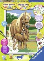 Schilderen op nummer: paardenliefde
