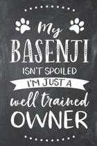 My Basenji Isn't Spoiled I'm Just a Well Trained Owner