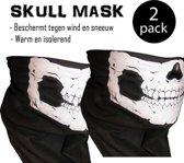 Doodshoofd schedel masker col en sjaal - 2 Pack** (skull mask)