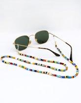 Koord met kralen - sunnycord - zonnebrilkoord - brillenkoord - zonnebriltouwtje - ketting zonnebril