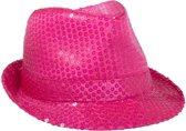 Roze Neon Trilby Hoed met Glitters