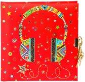 GOLDBUCH GOL-44311 TURNOWSKY dagboek HEADPHONE met slot