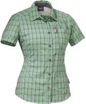 Jack Wolfskin Mountain Stretch Shirt Women - dames - blouse korte mouw - maat L - groen