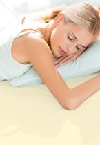 Schlafgut - Stretch - Jersey - Topper Hoeslaken - Lits-jumeaux - 180/200x200/220 cm - Ecru