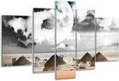 Glasschilderij Modern | Rood, Grijs, Zwart | 170x100cm 5Luik | Foto print op Glas |  F004418