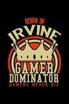 Born in Gamer Dominator: RPG JOURNAL I GAMING NOTEBOOK for Students Online Gamers Videogamers Hometown Lovers 6x9 inch 120 pages lined I Daily