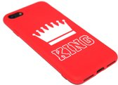 Rood King siliconen hoesje iPhone 8 Plus / 7 Plus