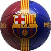 Bal barcelona leer groot blauw/rood 2-tone