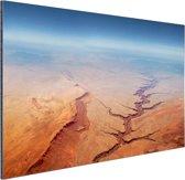 Luchtfoto van de Grand Canyon Aluminium 90x60 cm - Foto print op Aluminium (metaal wanddecoratie)