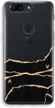OnePlus 5T Transparant Hoesje (Soft) - Gouden marmer