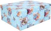 Kerst inpakpapier van Disney Frozen blauw 70 x 200 cm - cadeaupapier
