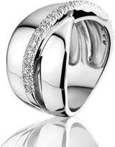Montebello Ring Cleo - Dames - Zilver Gehrodineerd - Zirkonia - Maat 50 -16