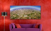 Amsterdam in Panorama op Canvas | 170 x 70 cm