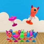 24 STUKS | Jump Up Monsters | Mix Gekleurde Omhoog Springende Monsters | Leuke Traktatie / Uitdeelcadeautjes voor jongens en Meisjes