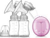 Elektrische dubbele borstkolf - borstvoeding - moedermelk - kolven - afkolfset - babyvoeding – kolf – BPA vrij - Roze