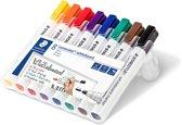 STAEDTLER Lumocolor - Whiteboard marker - Ronde punt - Box 8 stuks - Assorti