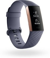 Fitbit Charge 3 - activity tracker - rose gold/blue grey