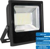 LED schijnwerper - 100 watt - daglicht - waterdicht  - zwart