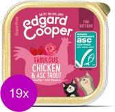 Edgard & Cooper Kip & ASC-Forel Kuipje - Voor kittens - Kattenvoer - 19 x 85g