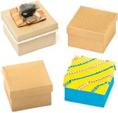 Vierkante knutseldoosjes  (6 stuks per verpakking)