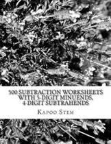 500 Subtraction Worksheets with 5-Digit Minuends, 4-Digit Subtrahends