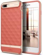 Caseology ® iPhone 7+ (plus)  Parallax TPU hoes - Slim Case - Shock Proof - Anti-schok hoesje - Grip Case - Coral Pink ( Roze)