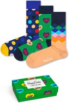 Happy Socks I love Dad Vaderdag Sokken Giftbox - 3-pack - Groen - 41-46