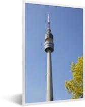 Foto in lijst - De televisietoren van Dortmund in Duitsland fotolijst wit 40x60 cm - Poster in lijst (Wanddecoratie woonkamer / slaapkamer)