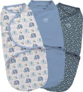 SwaddleMe inbakerdoek 0-3 mnd - 3-pack Elephant Splash