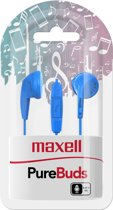 Maxell PureBuds with mic blue