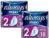 Always Maxi Long 2 - 36 maandverbanden (2x18)